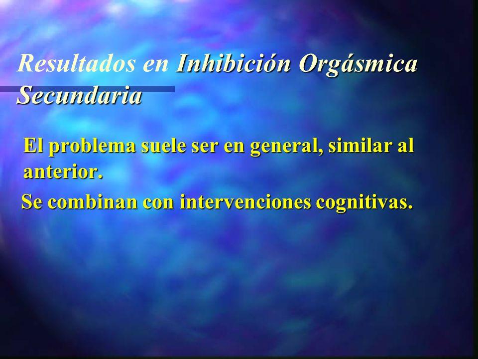 Resultados en Inhibición Orgásmica Secundaria