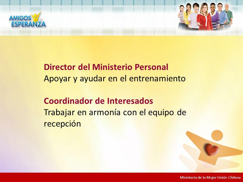 Director del Ministerio Personal Apoyar y ayudar en el entrenamiento