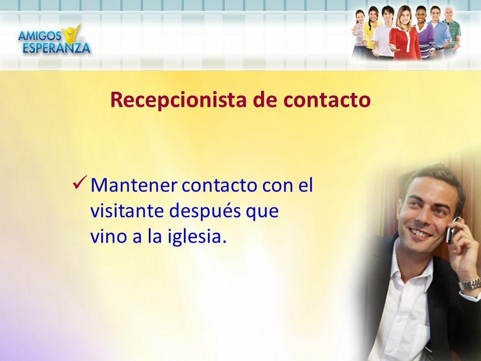 Recepcionista de contacto