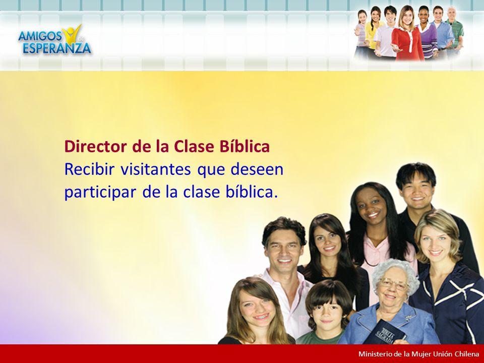 Participar como recepcionista Director de la Clase Bíblica