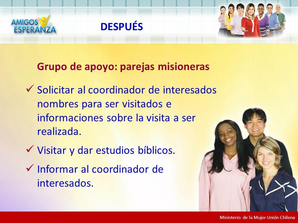 Grupo de apoyo: parejas misioneras