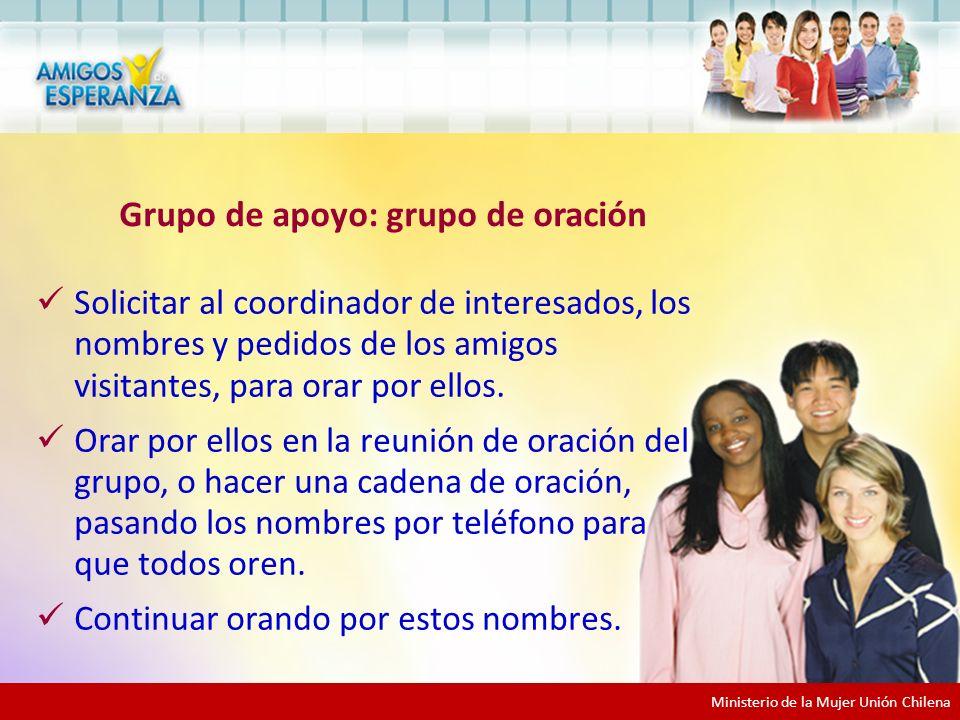 Grupo de apoyo: grupo de oración