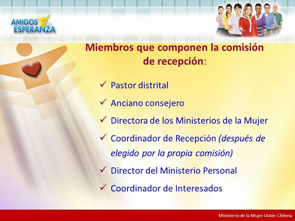 Miembros que componen la comisión de recepción: