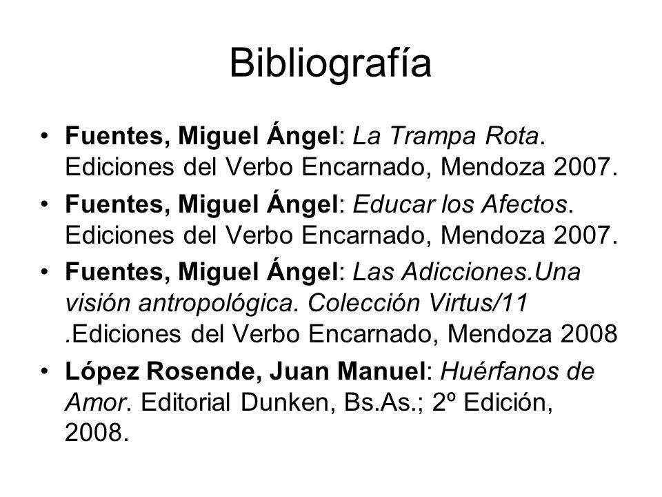 Bibliografía Fuentes, Miguel Ángel: La Trampa Rota. Ediciones del Verbo Encarnado, Mendoza 2007.