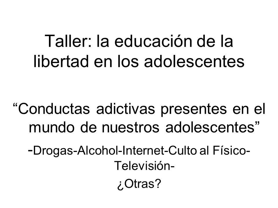 Taller: la educación de la libertad en los adolescentes