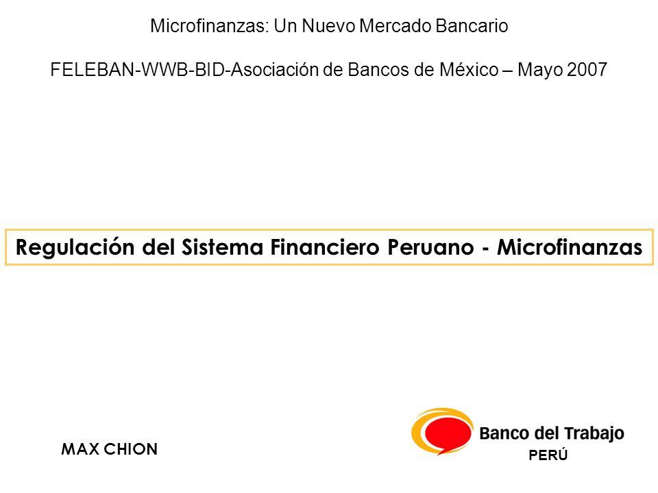 Regulación del Sistema Financiero Peruano - Microfinanzas