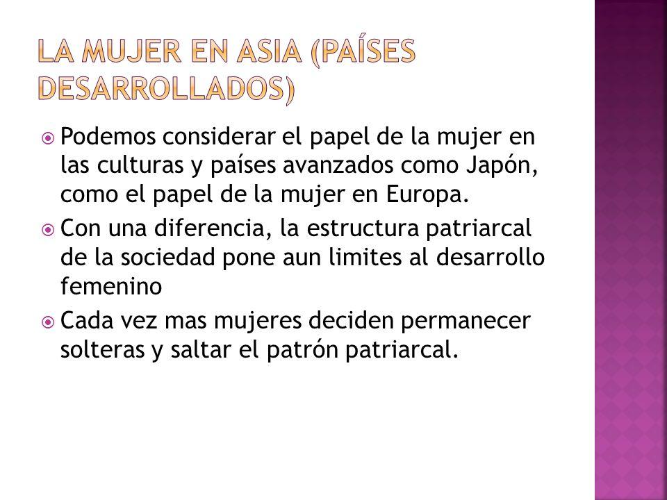 La mujer en Asia (Países desarrollados)
