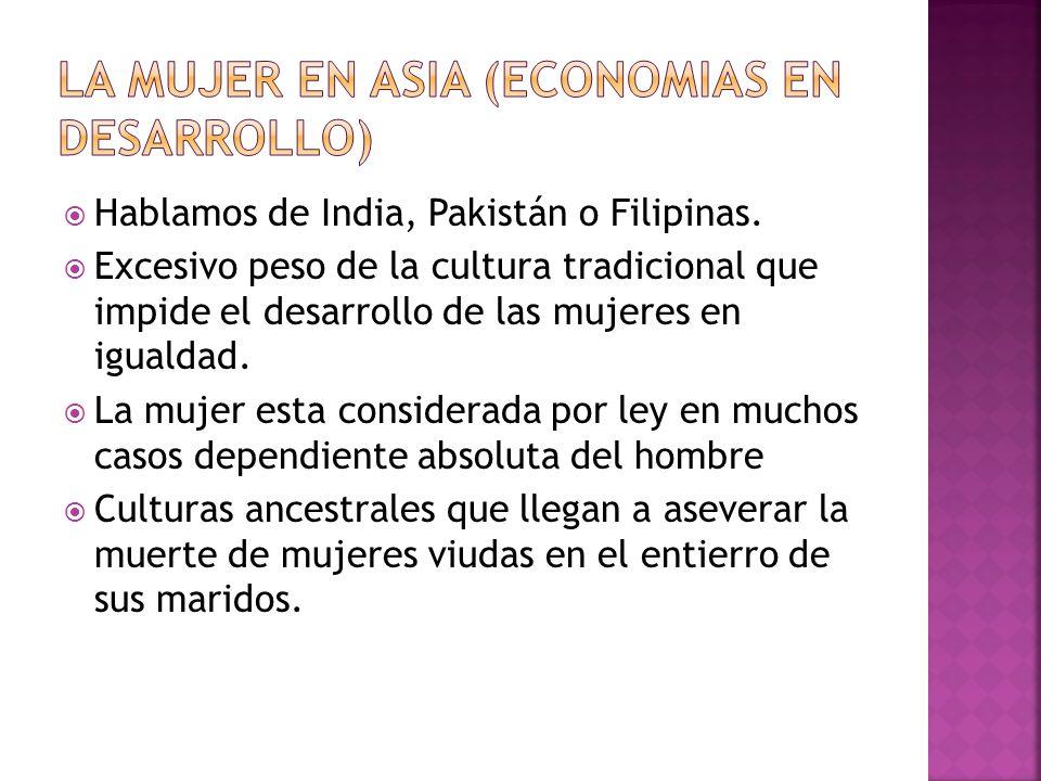 La mujer en Asia (Economias en desarrollo)