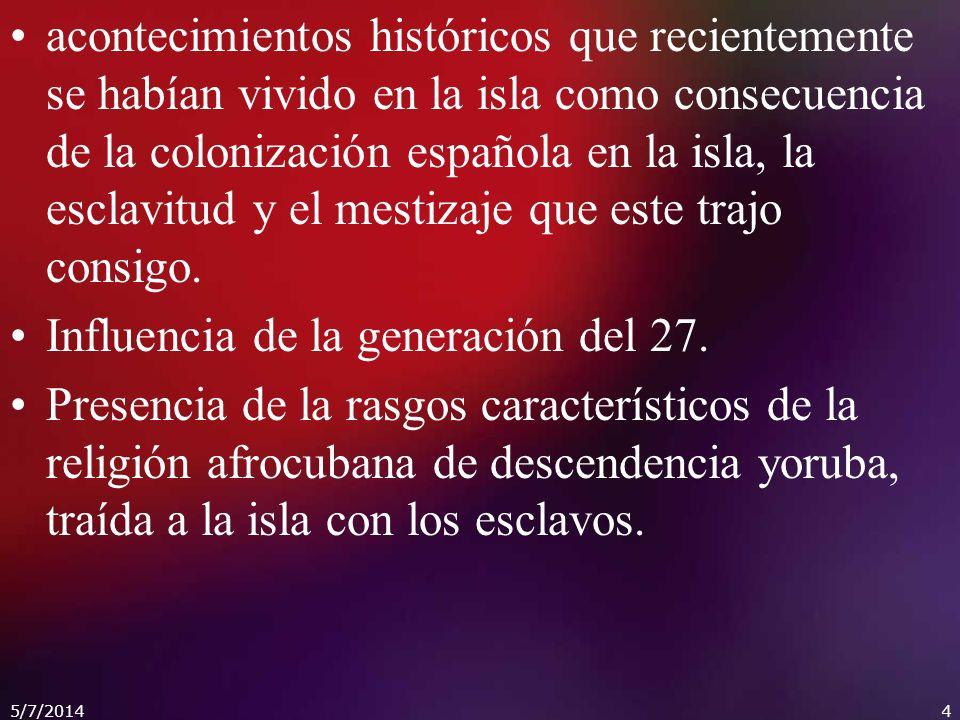 Influencia de la generación del 27.