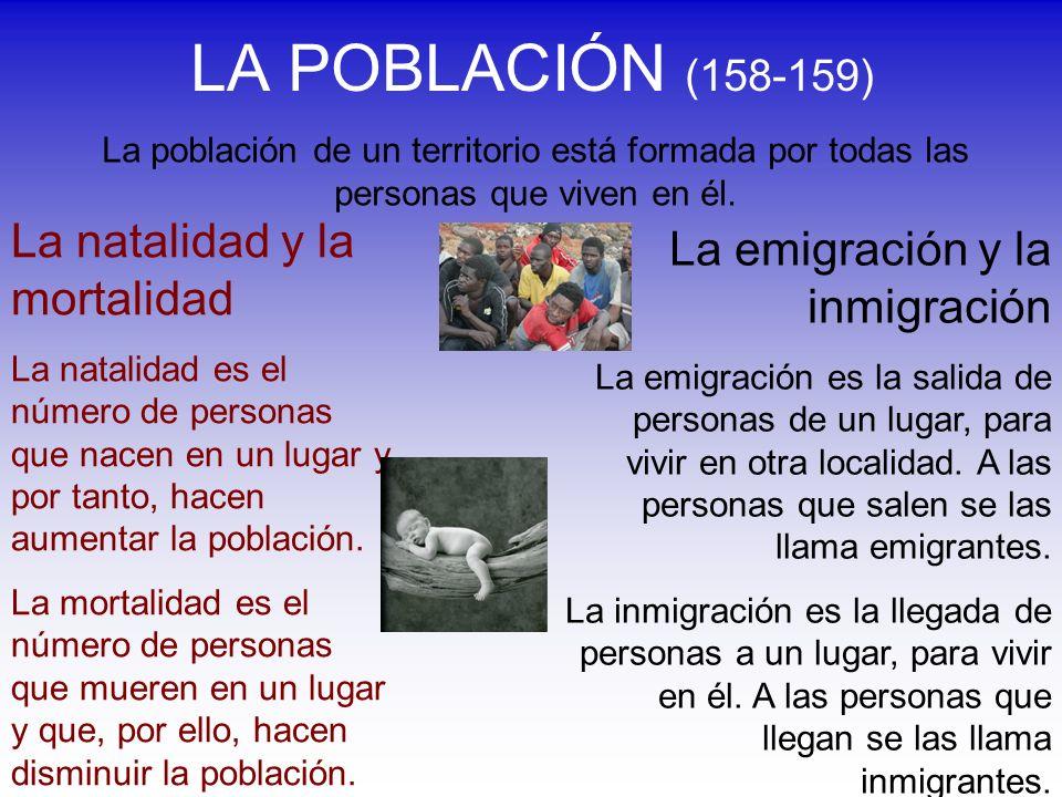 LA POBLACIÓN (158-159) La natalidad y la mortalidad