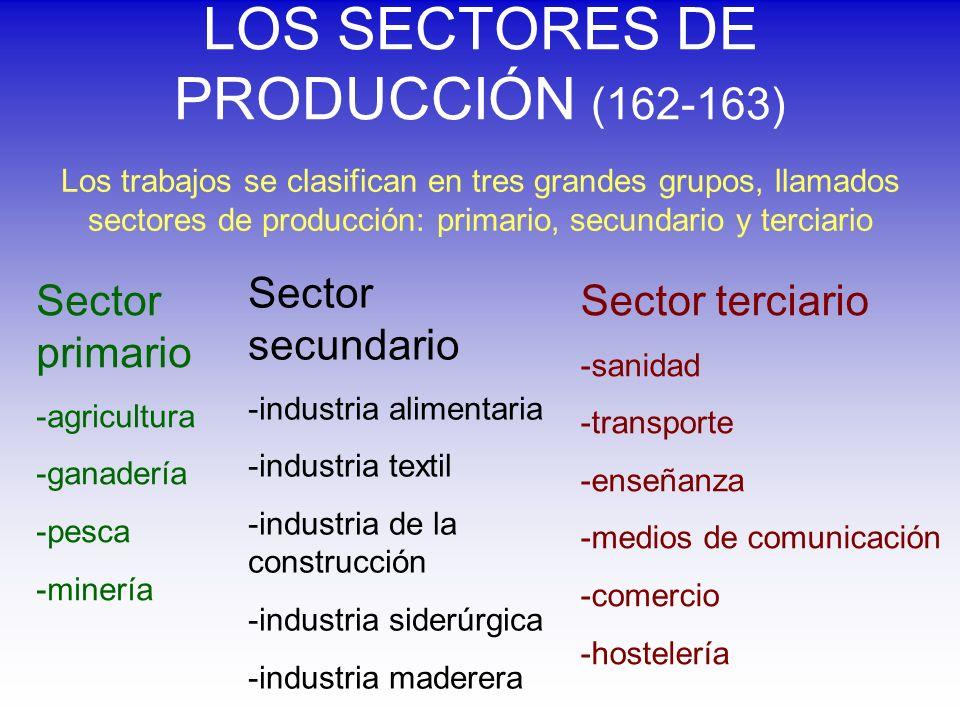 LOS SECTORES DE PRODUCCIÓN (162-163)