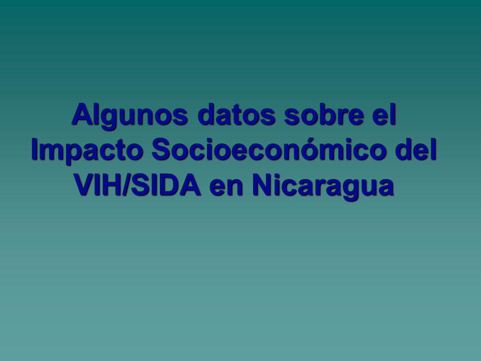 Algunos datos sobre el Impacto Socioeconómico del VIH/SIDA en Nicaragua