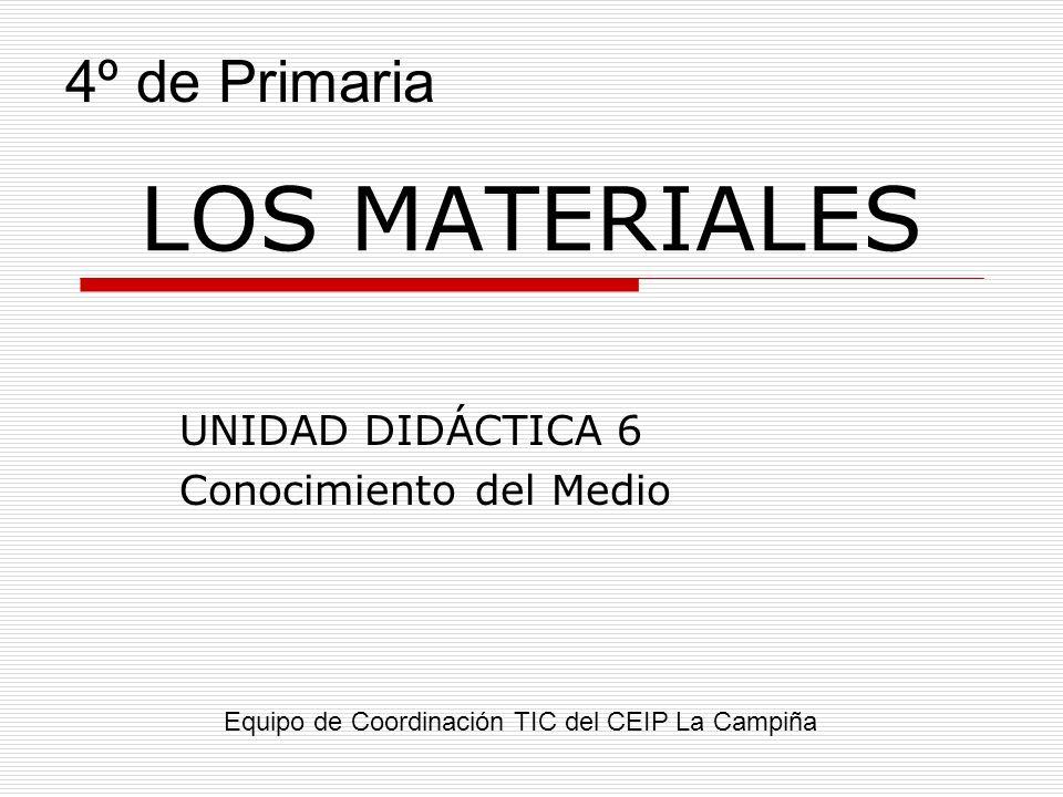 UNIDAD DIDÁCTICA 6 Conocimiento del Medio
