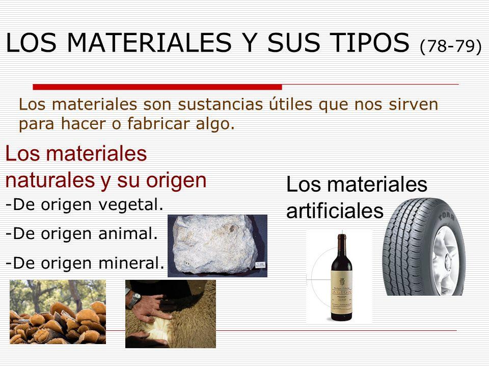 LOS MATERIALES Y SUS TIPOS (78-79)