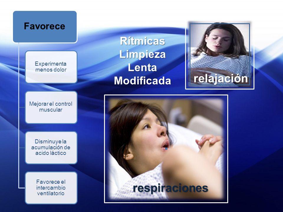 relajación respiraciones Rítmicas Limpieza Lenta Modificada Favorece