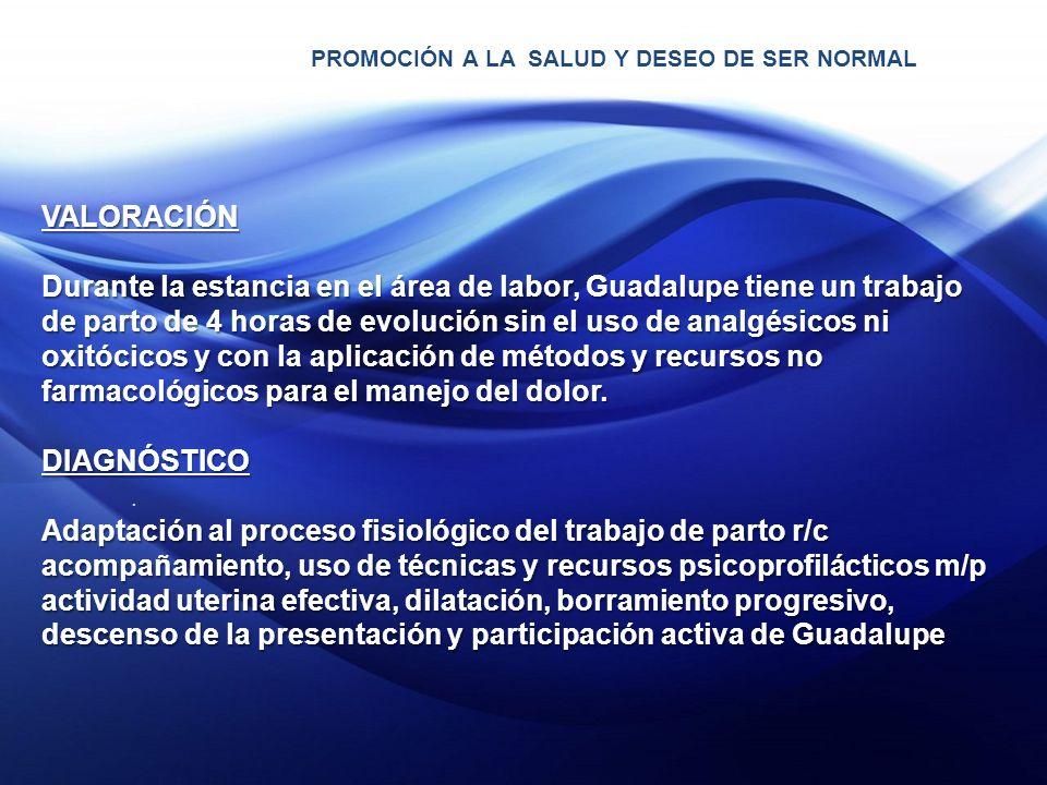 PROMOCIÓN A LA SALUD Y DESEO DE SER NORMAL