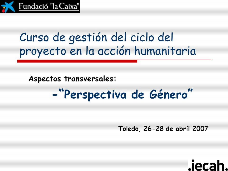 Curso de gestión del ciclo del proyecto en la acción humanitaria