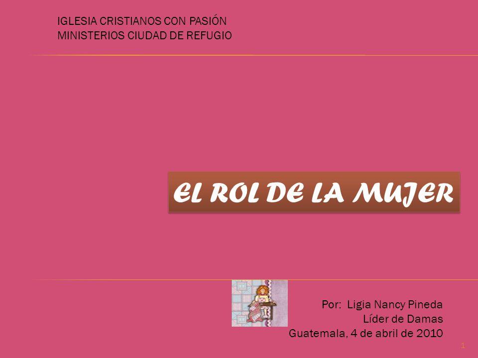 EL ROL DE LA MUJER IGLESIA CRISTIANOS CON PASIÓN
