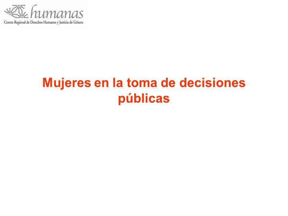 Mujeres en la toma de decisiones públicas