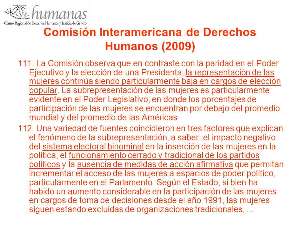 Comisión Interamericana de Derechos Humanos (2009)