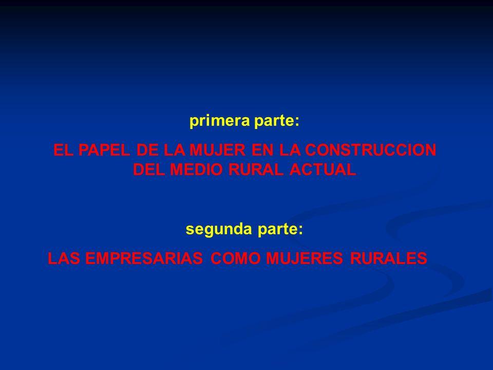 EL PAPEL DE LA MUJER EN LA CONSTRUCCION DEL MEDIO RURAL ACTUAL