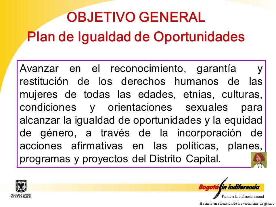 OBJETIVO GENERAL Plan de Igualdad de Oportunidades