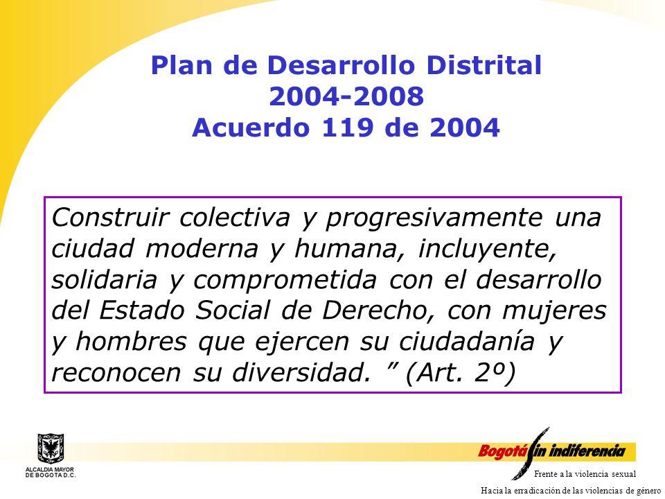 Plan de Desarrollo Distrital 2004-2008 Acuerdo 119 de 2004