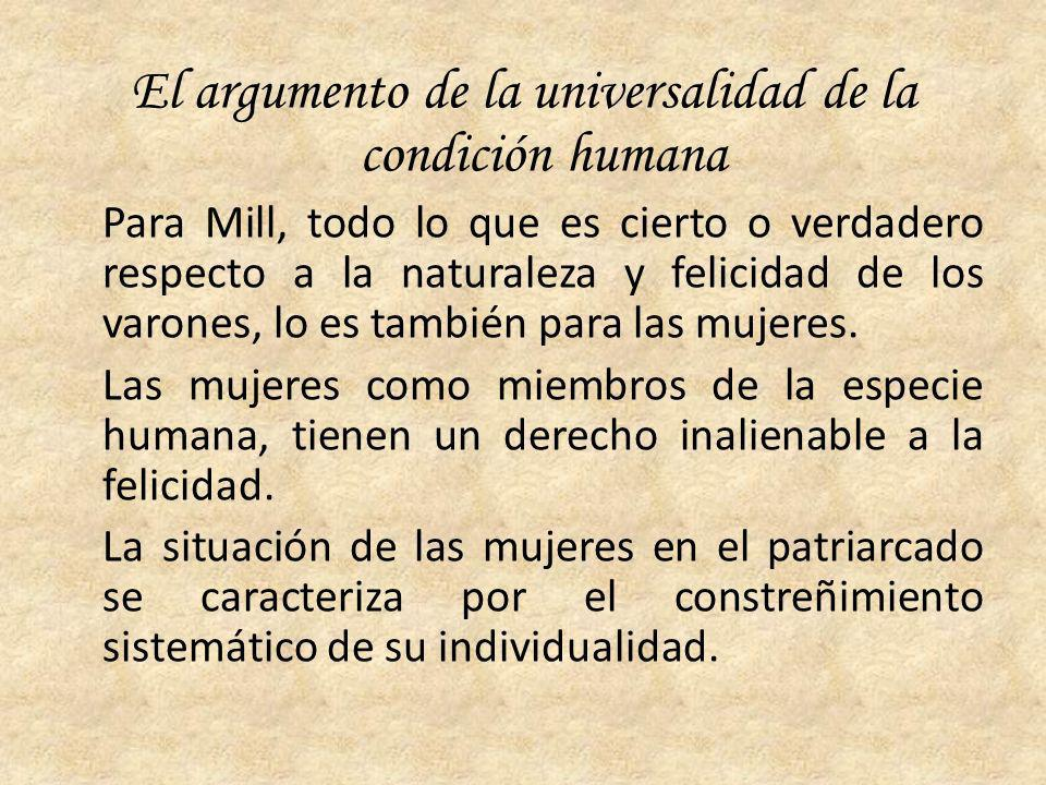 El argumento de la universalidad de la condición humana