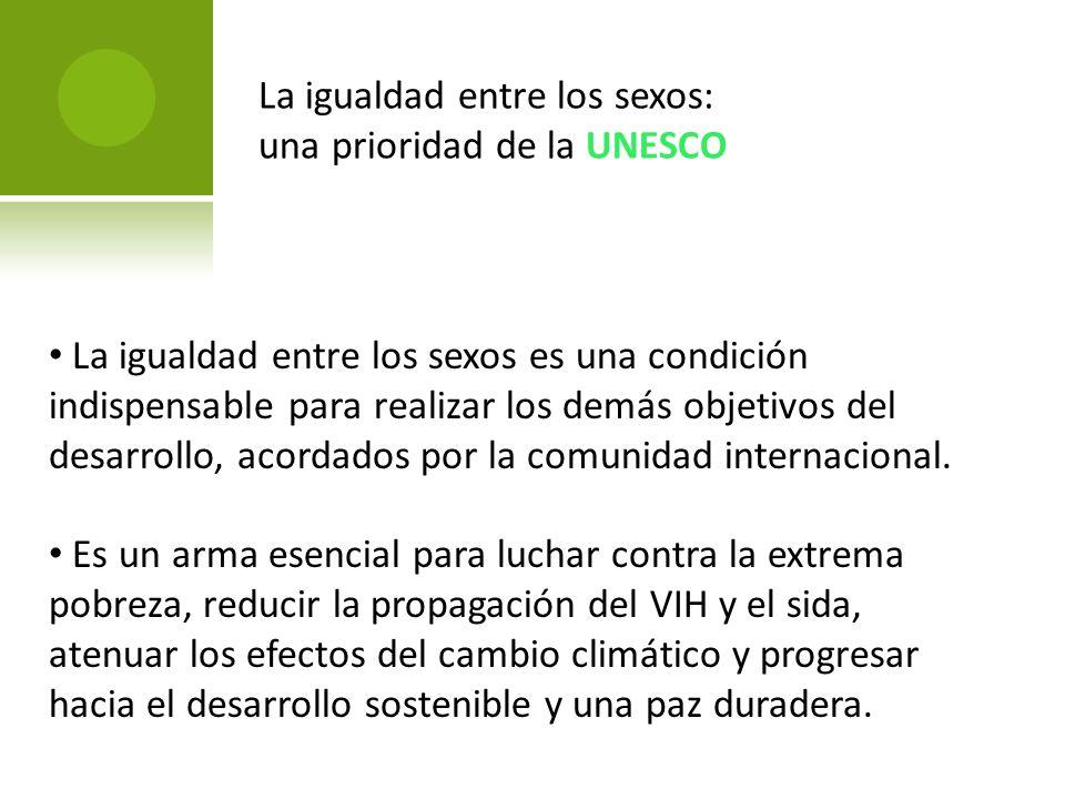 La igualdad entre los sexos: una prioridad de la UNESCO