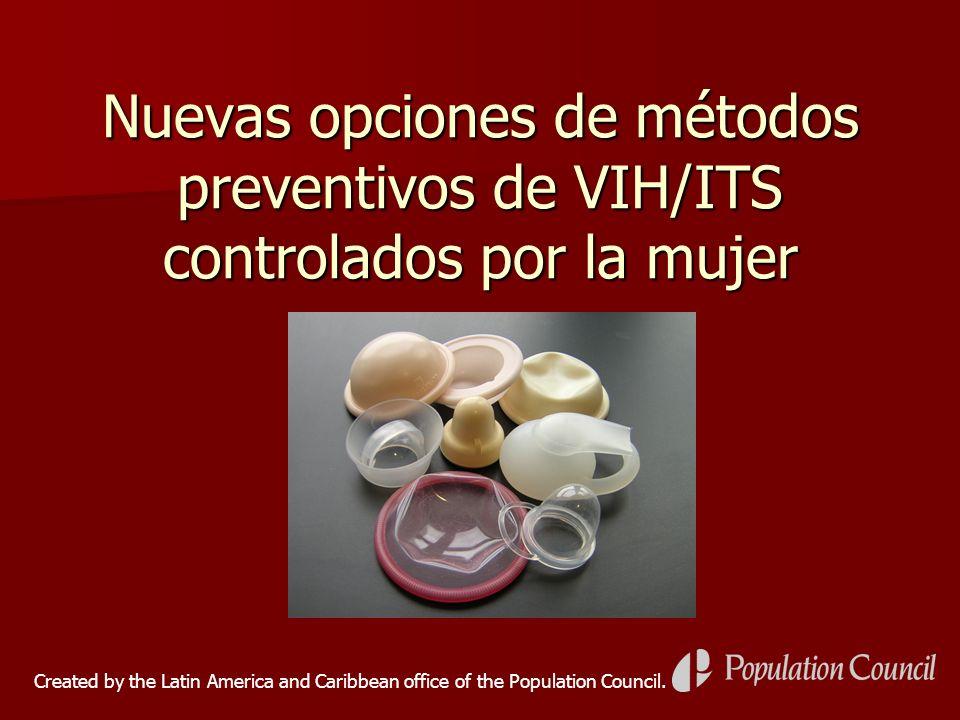 Nuevas opciones de métodos preventivos de VIH/ITS controlados por la mujer