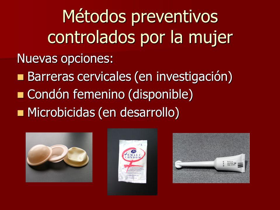 Métodos preventivos controlados por la mujer