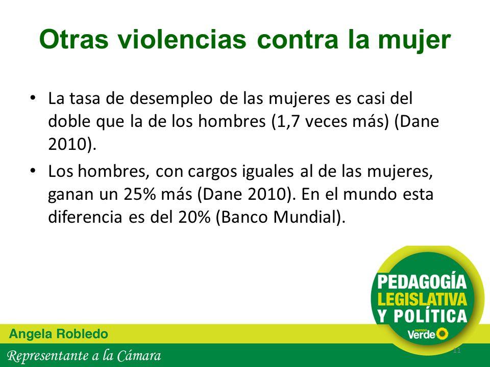 Otras violencias contra la mujer