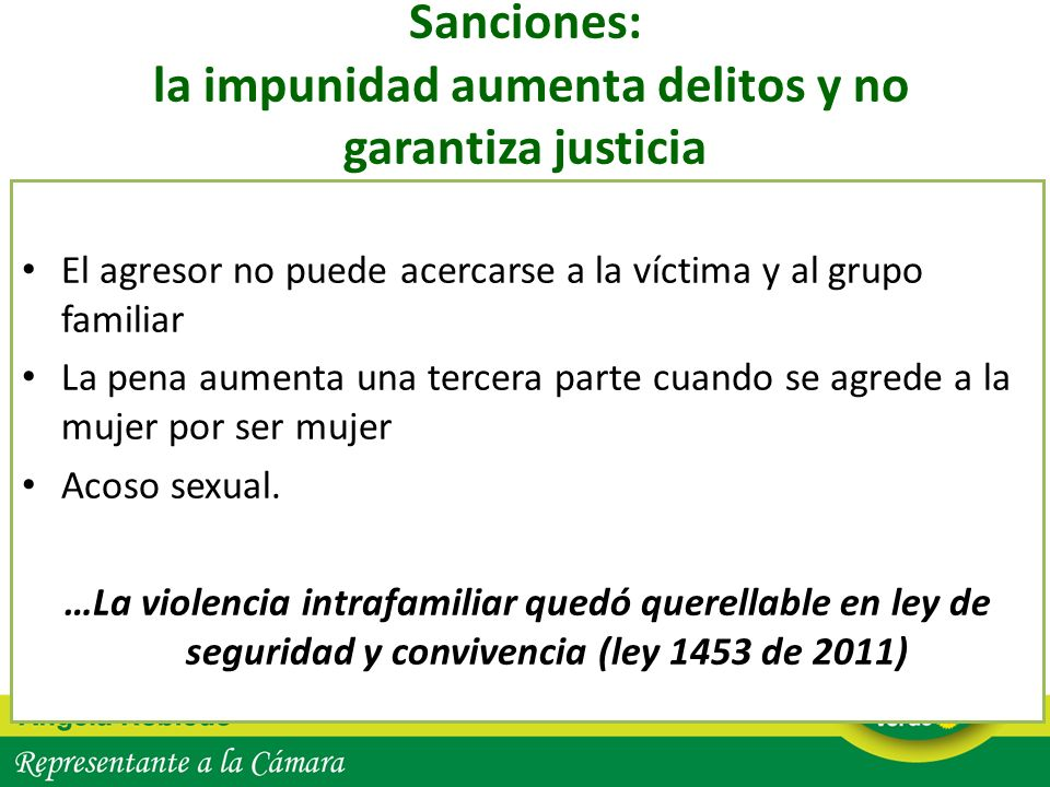 Sanciones: la impunidad aumenta delitos y no garantiza justicia