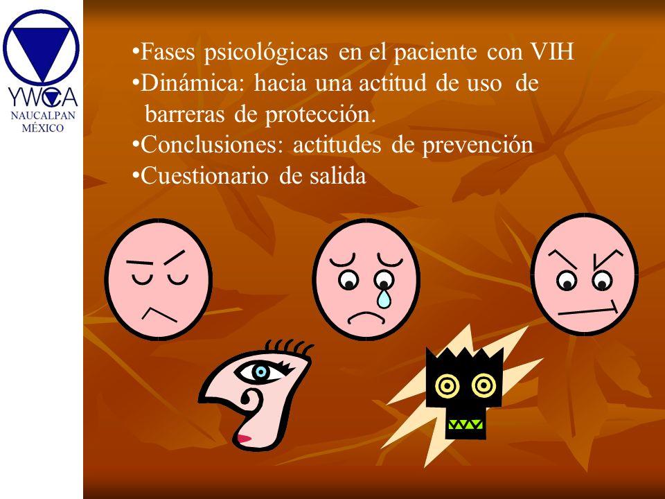 Fases psicológicas en el paciente con VIH