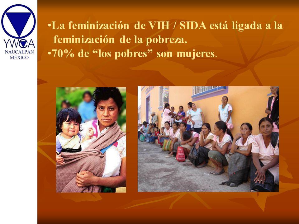 La feminización de VIH / SIDA está ligada a la