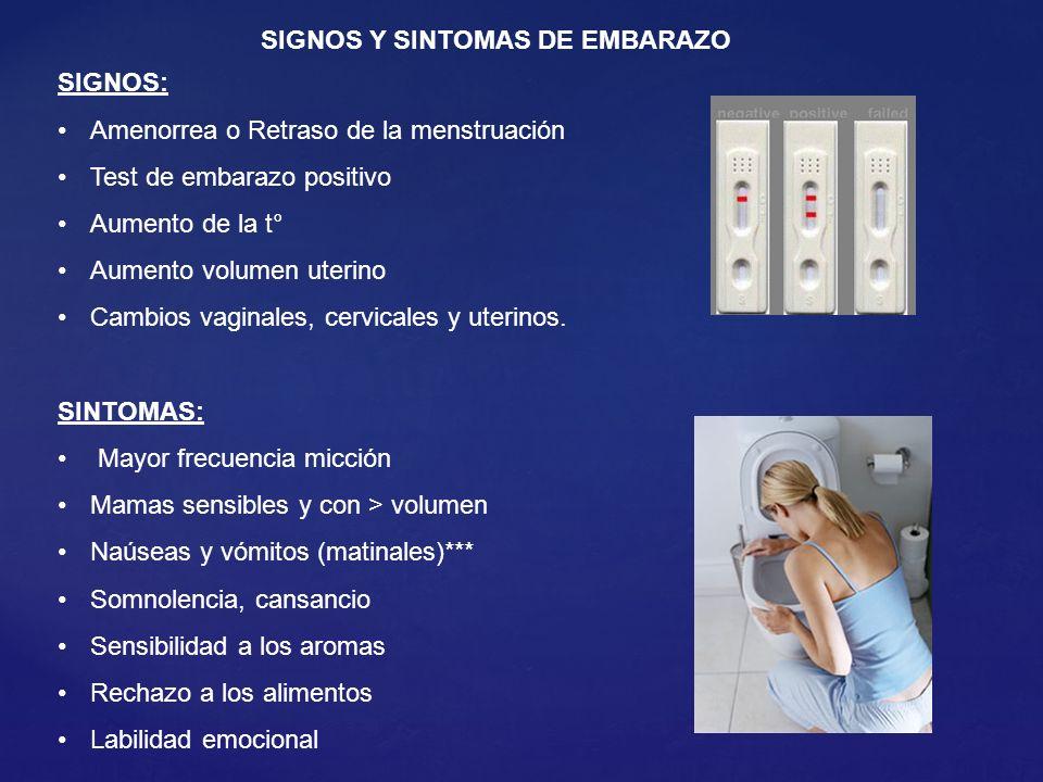 SIGNOS Y SINTOMAS DE EMBARAZO
