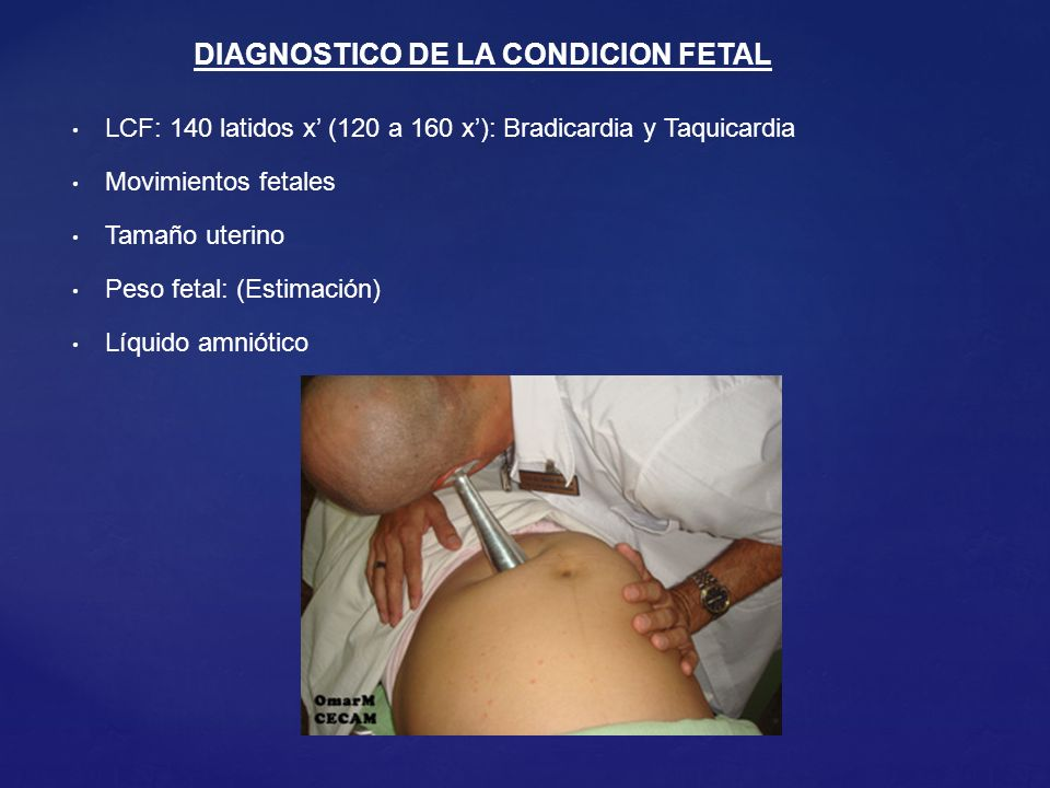 DIAGNOSTICO DE LA CONDICION FETAL