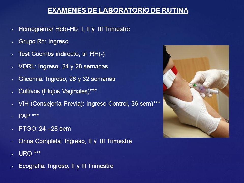 EXAMENES DE LABORATORIO DE RUTINA