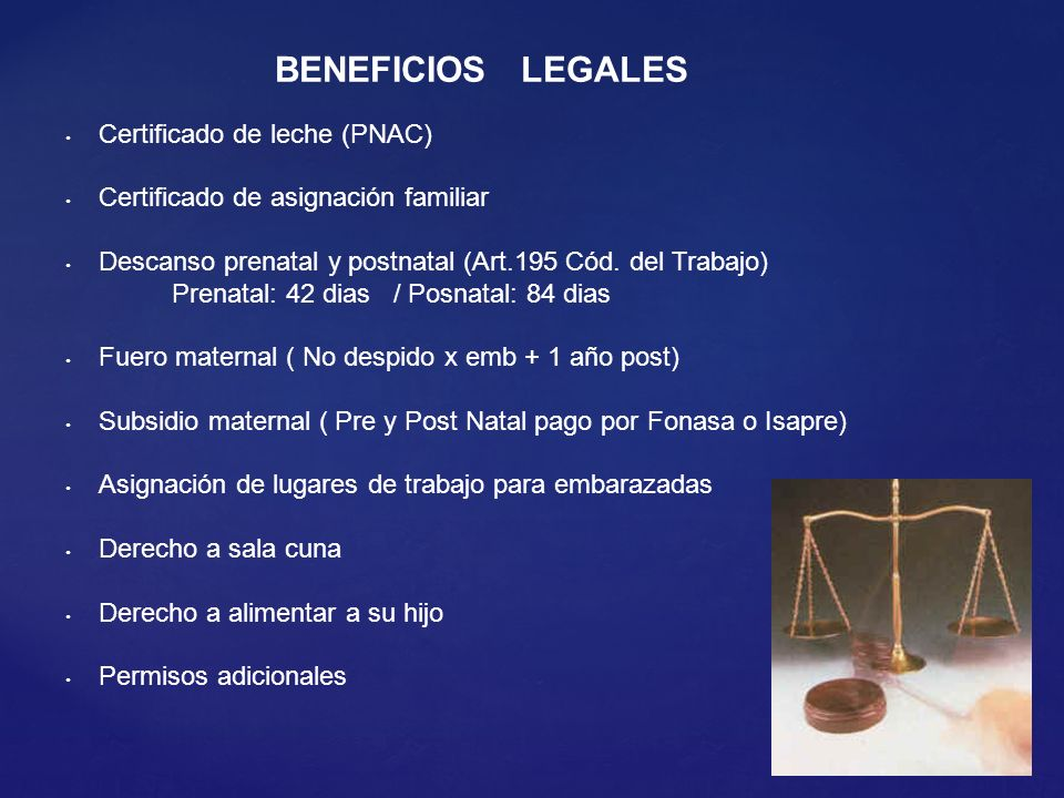 BENEFICIOS LEGALES Certificado de leche (PNAC)