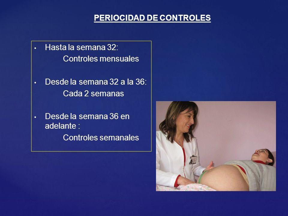 PERIOCIDAD DE CONTROLES