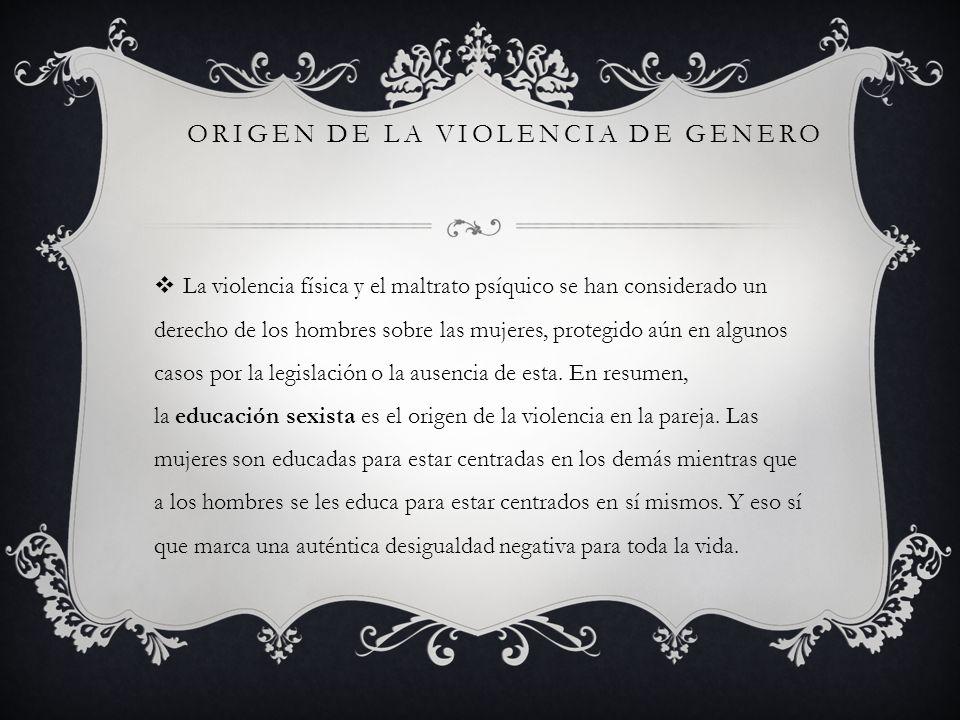 origen de la violencia de genero