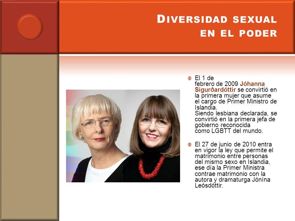 Diversidad sexual en el poder