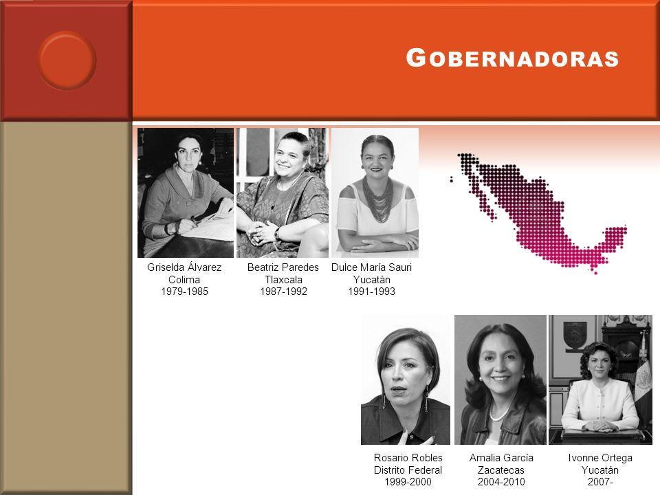 Gobernadoras Griselda Álvarez Colima 1979-1985 Beatriz Paredes