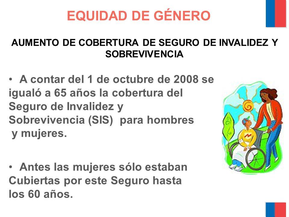 AUMENTO DE COBERTURA DE SEGURO DE INVALIDEZ Y