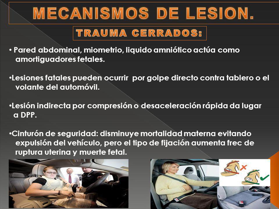 MECANISMOS DE LESION. TRAUMA CERRADOS: