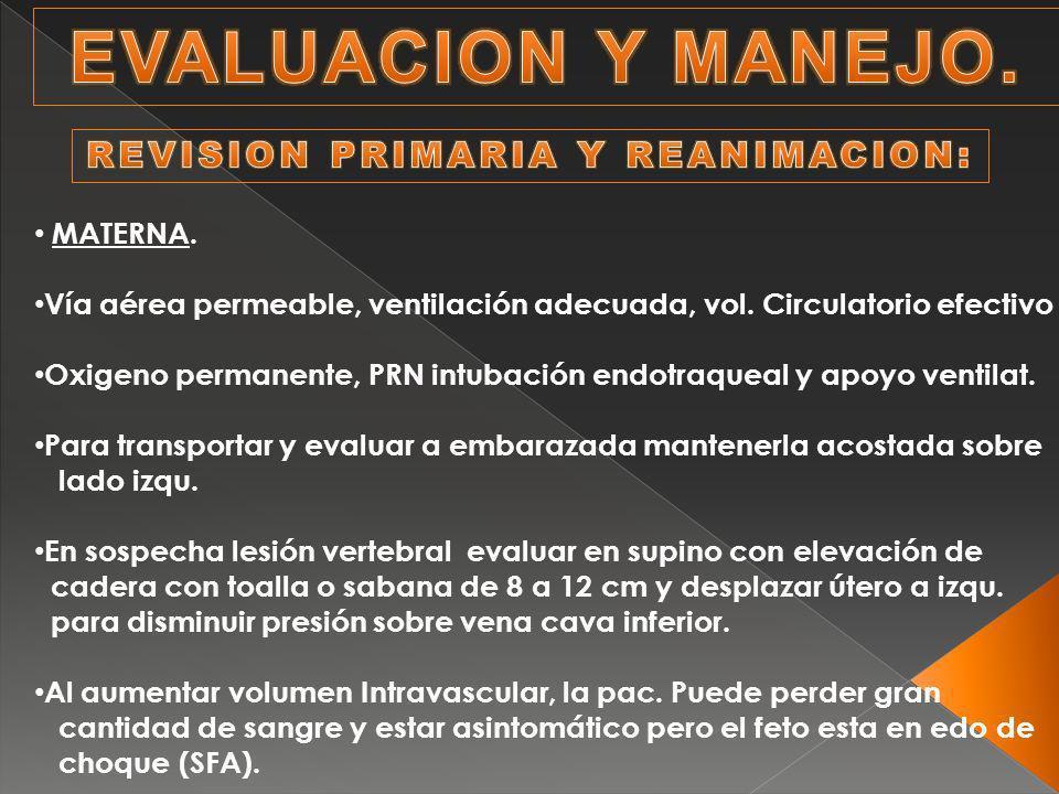 REVISION PRIMARIA Y REANIMACION:
