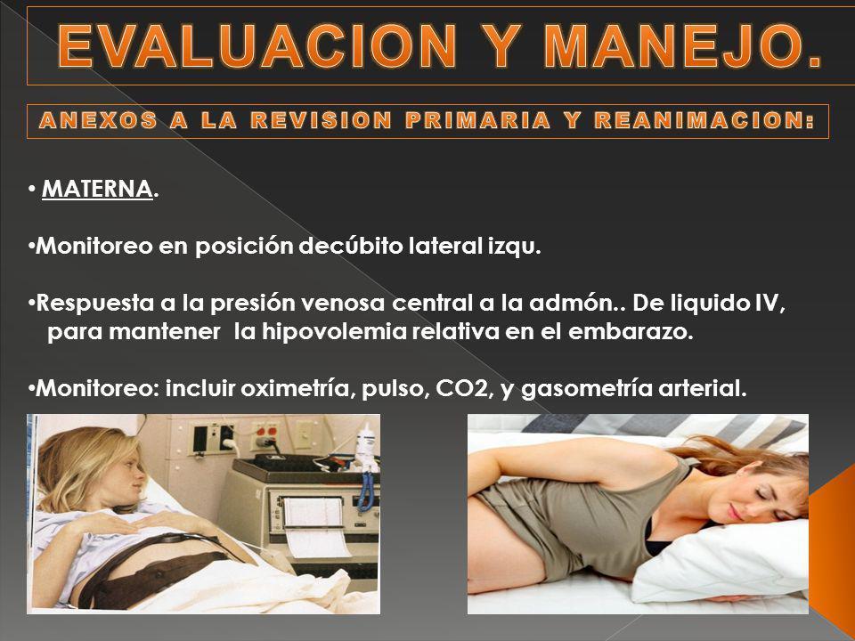 ANEXOS A LA REVISION PRIMARIA Y REANIMACION: