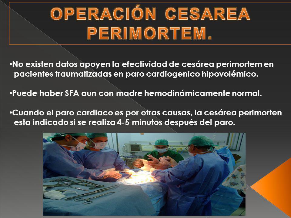 OPERACIÓN CESAREA PERIMORTEM.