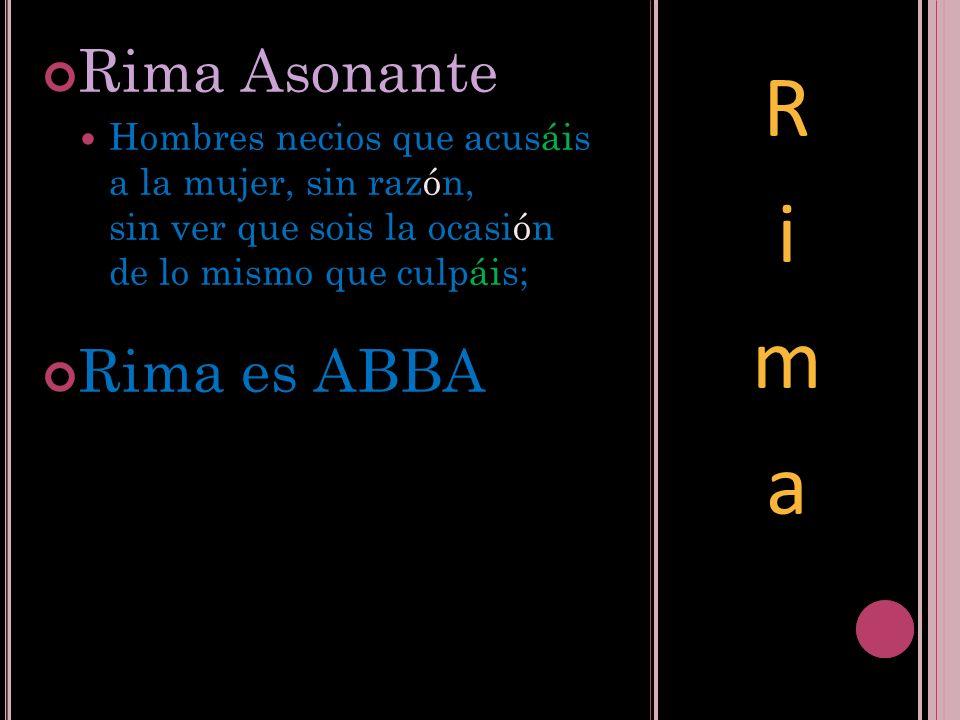 Rima Rima Asonante Rima es ABBA