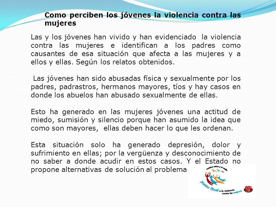 Como perciben los jóvenes la violencia contra las mujeres
